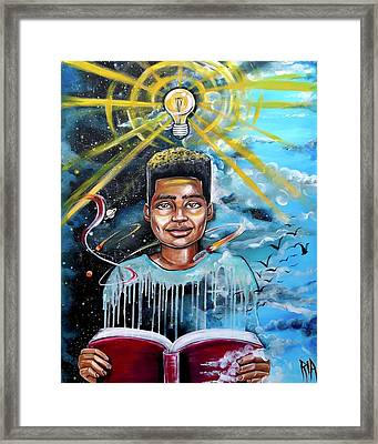 Drenched In Knowledge Framed Print