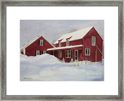 Dresden Farmhouse Framed Print by Karol Wyckoff