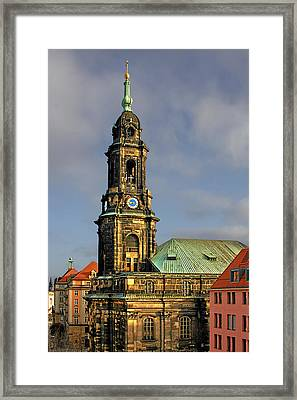 Dresden Kreuzkirche - Church Of The Holy Cross Framed Print