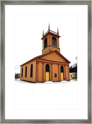 Dresden St John Episcopal Church In Snow Framed Print
