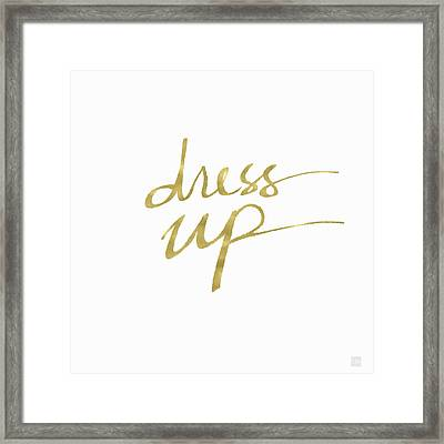 Dress Up Gold- Art By Linda Woods Framed Print