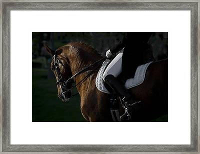 Framed Print featuring the photograph Dressage D5284 by Wes and Dotty Weber