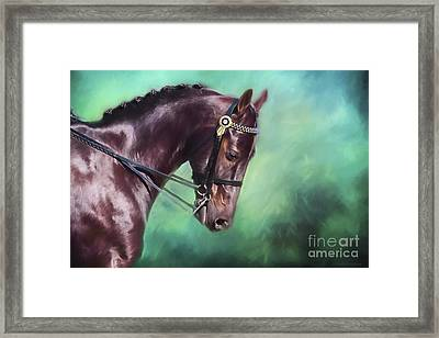 Dressage Dreams Framed Print by Michelle Wrighton