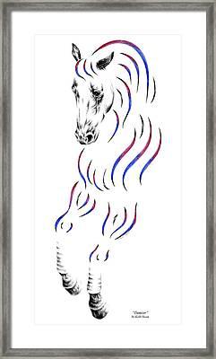 Dressage Horse Dancer Print Framed Print