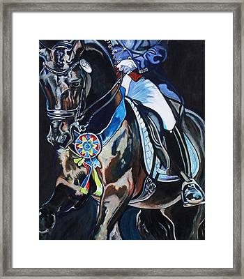 Dressage Stallion Framed Print