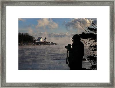 Dressed For Sea Smoke Framed Print