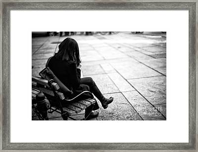 Dressed In Black Framed Print by John Rizzuto