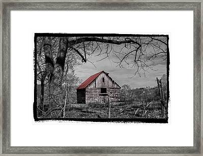 Dressed In Red Framed Print by Debra and Dave Vanderlaan