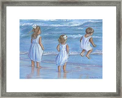 Dressed In White Framed Print