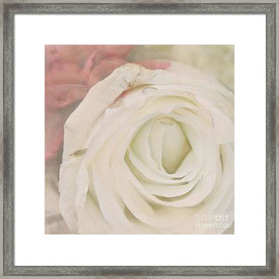 Dressed In White Satin Framed Print