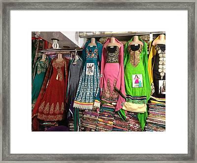 Dresses For Sale Framed Print by Molly Celaschi