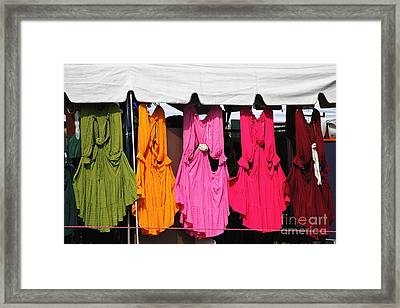 Dresses In The Sunlight Framed Print