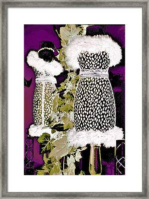 Dressing In The Dark Framed Print by Ann Johndro-Collins