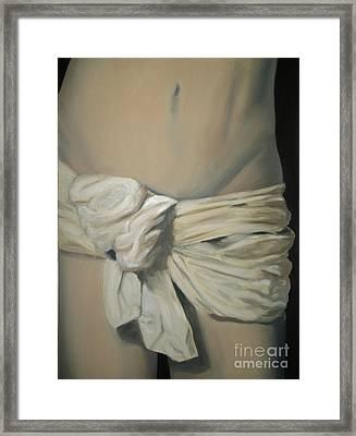 Dressing Framed Print by Katerina Wert