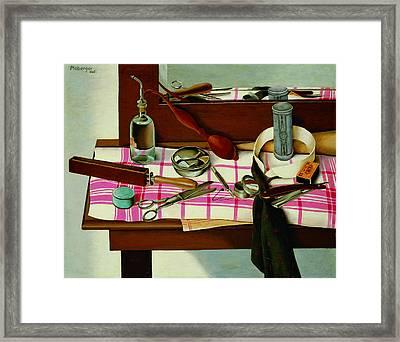 Dressing Table Framed Print by Herbert Ploberger