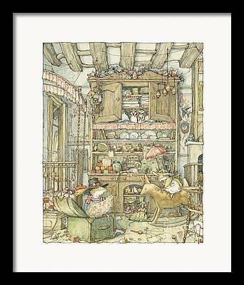 Oaks Drawings Framed Prints