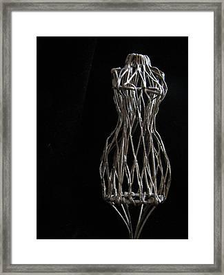Dressmaker Form Framed Print by Lindie Racz
