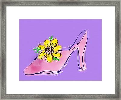 Dressy Shoe For Happy Dresses Framed Print