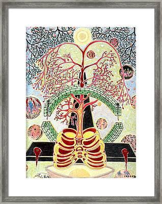 Framed Print featuring the painting Drevo Man by Yury Bashkin