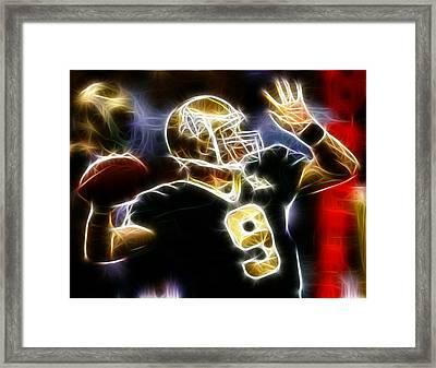 Drew Brees New Orleans Saints Framed Print by Paul Van Scott