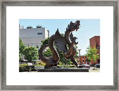 Framed Print featuring the photograph Drexel University Dragon - Philadelphia Pa by Bill Cannon