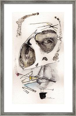 Dr.gonzo As Hunter S. Thompson Framed Print by Mark M  Mellon