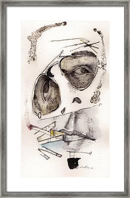 Dr.gonzo As Hunter S. Thompson Framed Print