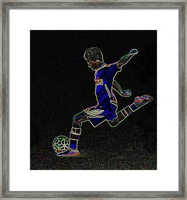 Dribbling Framed Print