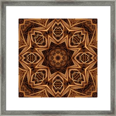 Dried Grass Mandala Framed Print