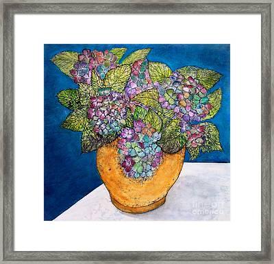 Dried Hydrangea Framed Print