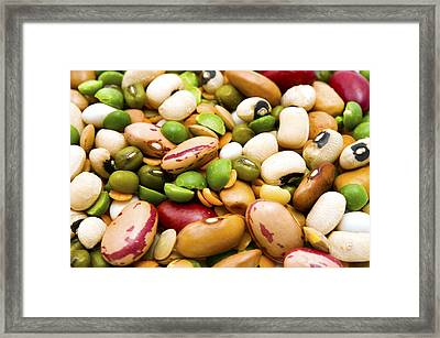 Dried Legumes And Cereals Framed Print