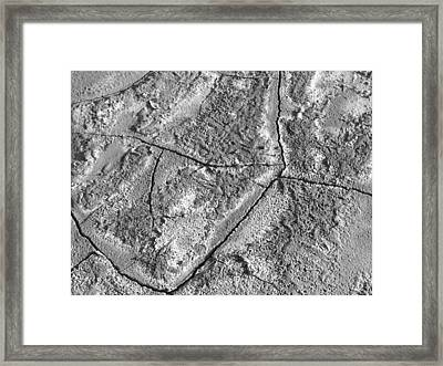 Dried Mud 8 Framed Print by Mike McGlothlen