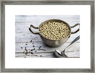 Dried Peas Framed Print by Nailia Schwarz