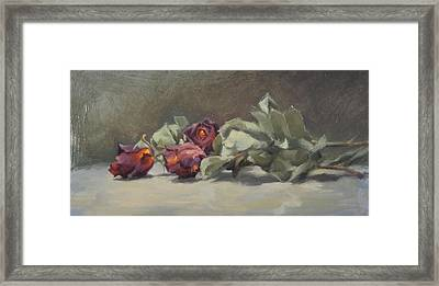 Dried Roses Framed Print