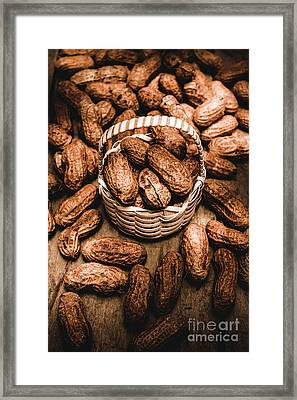 Dried Whole Peanuts In Their Seedpods Framed Print by Jorgo Photography - Wall Art Gallery
