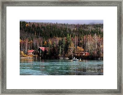 Drift Fishing On The Kenai Framed Print