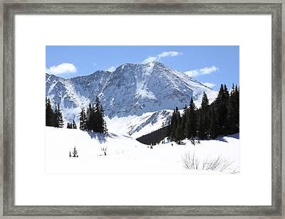 Drift Peak Framed Print