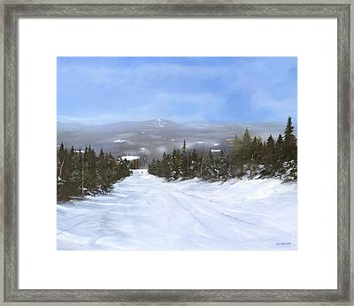 Framed Print featuring the painting Drifter by Ken Ahlering