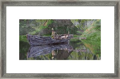 Drifter On The Lake Framed Print by Betsy Knapp