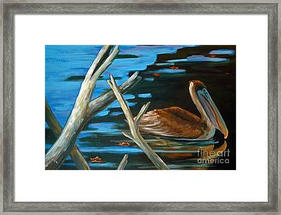 Driftin Brownie Framed Print by Suzanne McKee