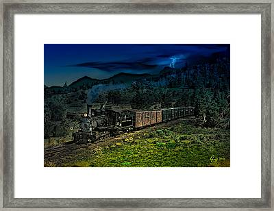Drifting Down To Antonitio Framed Print