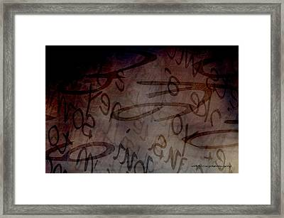 Drifting Expressions Framed Print
