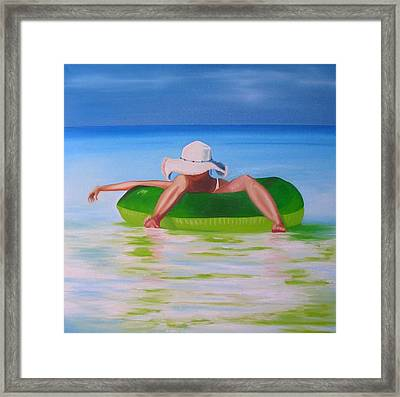 Drifting In Framed Print