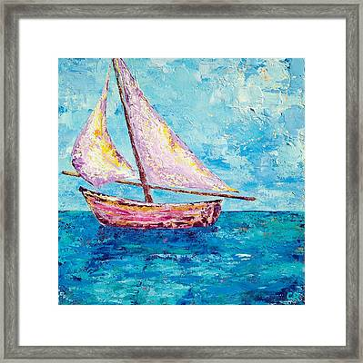 Framed Print featuring the painting Drifting Into Dusk by Chris Rice