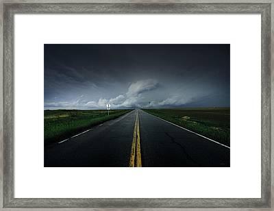 Drifting Left Of Center Framed Print