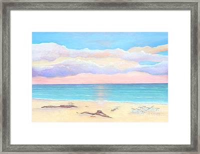 Driftwood Beach Framed Print by Frances  Dillon