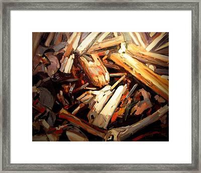 Driftwood Framed Print by Brian Simons