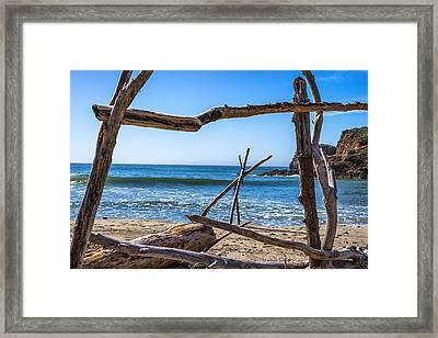 Driftwood Frame Framed Print by Joseph S Giacalone