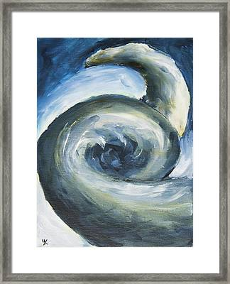 Framed Print featuring the painting Driftwood by Yulia Kazansky