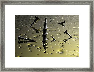 Drill Baby Drill Framed Print by Robert Orinski